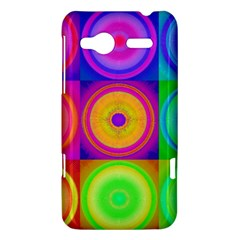 Retro Circles HTC Radar Hardshell Case  by SaraThePixelPixie