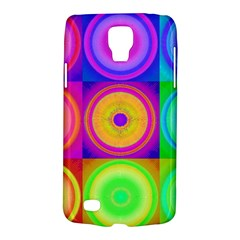 Retro Circles Samsung Galaxy S4 Active (i9295) Hardshell Case by SaraThePixelPixie