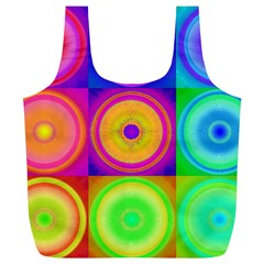 Retro Circles Reusable Bag (xl) by SaraThePixelPixie