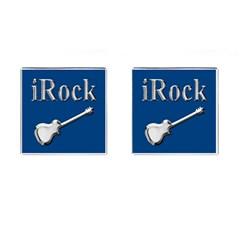 iRock Cufflinks (Square) by SaraThePixelPixie