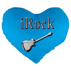 Irock 19  Premium Heart Shape Cushion by SaraThePixelPixie