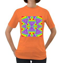 Trippy Rainbow Triangles Women s T Shirt (colored)