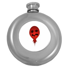 Evil Face Vector Illustration Hip Flask (Round) by dflcprints
