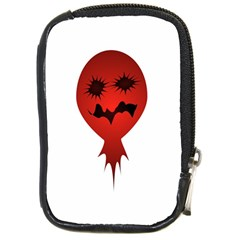 Evil Face Vector Illustration Compact Camera Leather Case by dflcprints