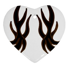 Dancing Fire Heart Ornament by coolcow
