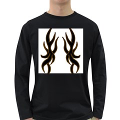 Dancing Fire Men s Long Sleeve T Shirt (dark Colored) by coolcow