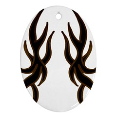 Dancing Fire Oval Ornament (two Sides) by coolcow