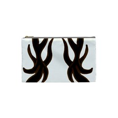 Dancing Fire Cosmetic Bag (small) by coolcow