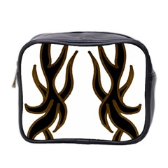 Dancing Fire Mini Travel Toiletry Bag (Two Sides) by coolcow