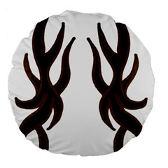 Dancing Fire 18  Premium Round Cushion  by coolcow