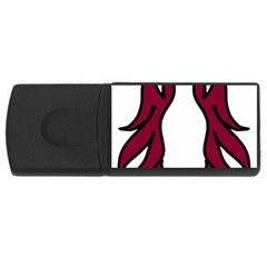 Dancing Fire 2 2GB USB Flash Drive (Rectangle) by coolcow