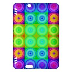 Rainbow Circles Kindle Fire HDX 7  Hardshell Case by SaraThePixelPixie