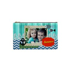 Summer By Summer Time    Cosmetic Bag (small)   Ata8zoznrdes   Www Artscow Com Front