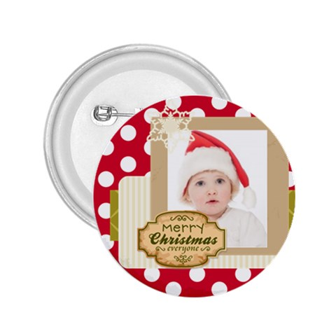Merry Christmas By Betty   2 25  Button   Xnzk8dnqg62o   Www Artscow Com Front