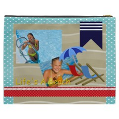 Summer By Summer Time    Cosmetic Bag (xxxl)   Gmkhcszdh00s   Www Artscow Com Back