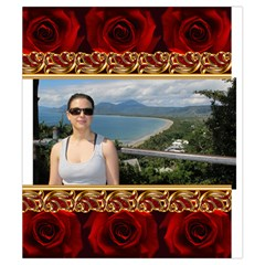 Red Rose Drawstring Pouch (small) By Deborah   Drawstring Pouch (small)   7j9k83837ibn   Www Artscow Com Back