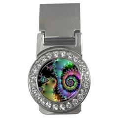 Satin Rainbow, Spiral Curves Through The Cosmos Money Clip (cz) by DianeClancy