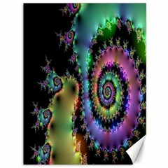 Satin Rainbow, Spiral Curves Through The Cosmos Canvas 36  X 48  (unframed) by DianeClancy