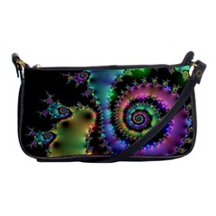 Satin Rainbow, Spiral Curves Through The Cosmos Evening Bag by DianeClancy
