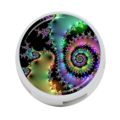 Satin Rainbow, Spiral Curves Through The Cosmos 4 Port Usb Hub (one Side) by DianeClancy