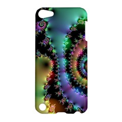 Satin Rainbow, Spiral Curves Through The Cosmos Apple Ipod Touch 5 Hardshell Case by DianeClancy