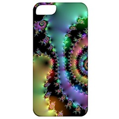 Satin Rainbow, Spiral Curves Through The Cosmos Apple Iphone 5 Classic Hardshell Case by DianeClancy