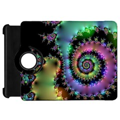 Satin Rainbow, Spiral Curves Through The Cosmos Kindle Fire Hd 7  (1st Gen) Flip 360 Case by DianeClancy