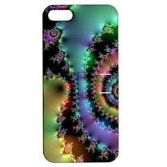 Satin Rainbow, Spiral Curves Through The Cosmos Apple Iphone 5 Hardshell Case With Stand by DianeClancy