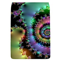 Satin Rainbow, Spiral Curves Through The Cosmos Removable Flap Cover (small) by DianeClancy