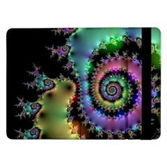Satin Rainbow, Spiral Curves Through The Cosmos Samsung Galaxy Tab Pro 12 2  Flip Case by DianeClancy