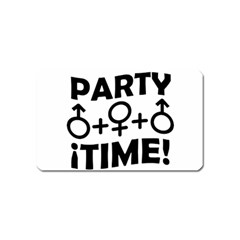 Party Time Threesome Sex Concept Typographic Design Magnet (name Card) by dflcprints