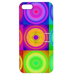 Retro Circles Apple Iphone 5 Hardshell Case With Stand by SaraThePixelPixie