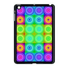 Rainbow Circles Apple Ipad Mini Case (black) by SaraThePixelPixie