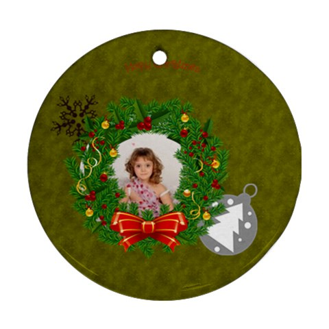 Xmas By Debe Lee   Ornament (round)   5juqy06bd4i7   Www Artscow Com Front