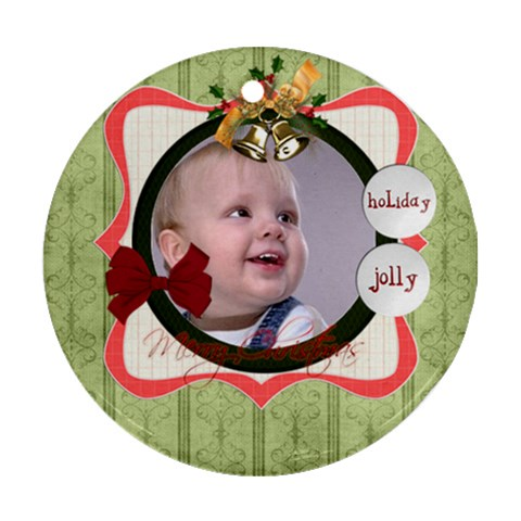 Xmas By Debe Lee   Ornament (round)   Wdx53e83p0ab   Www Artscow Com Front