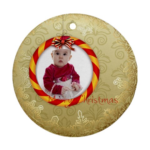 Xmas By Debe Lee   Ornament (round)   Un0hnv8vmby9   Www Artscow Com Front