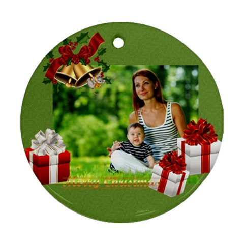 Xmas By Debe Lee   Ornament (round)   Louga95onf1g   Www Artscow Com Front