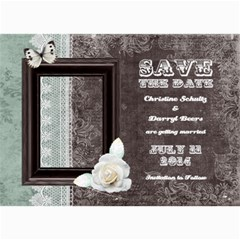 Chocolate Mint Save The Date Card By 4dannidesigns   5  X 7  Photo Cards   Afow6sl6a5vg   Www Artscow Com 7 x5 Photo Card - 4