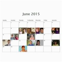 Big Family Calendar By Tania   Wall Calendar 11  X 8 5  (18 Months)   Qe1ihgoh5ps4   Www Artscow Com Jun 2015