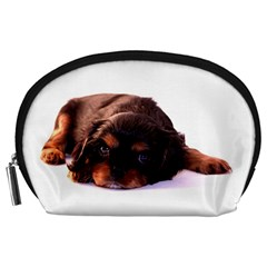 Puppy Pouch By Dagbjört   Accessory Pouch (large)   7dr4toh7zp18   Www Artscow Com Front