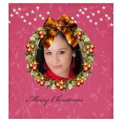 Merry Christmas By Debe Lee   Drawstring Pouch (large)   Nv0k6vs30l3t   Www Artscow Com Back