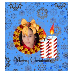 Merry Christmas By Debe Lee   Drawstring Pouch (large)   Mh184c222pe2   Www Artscow Com Front
