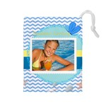 summer - Drawstring Pouch (Large)