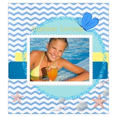 Summer By Summer Time    Drawstring Pouch (large)   M6dw795g0ten   Www Artscow Com Back