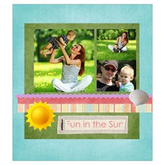 Summer By Summer Time    Drawstring Pouch (medium)   Ujju8wjkbqmn   Www Artscow Com Front