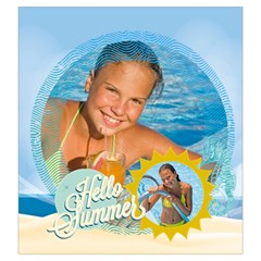 Summer By Summer Time    Drawstring Pouch (large)   W3op6zkevvcc   Www Artscow Com Back