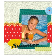 Summer By Summer Time    Drawstring Pouch (large)   Ak5r7ulyxdpk   Www Artscow Com Front