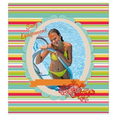 Summer By Summer Time    Drawstring Pouch (large)   6kwlk5jam66b   Www Artscow Com Front