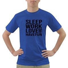 Sleep Work Love And Have Fun Typographic Design 01 Men s T Shirt (colored) by dflcprints