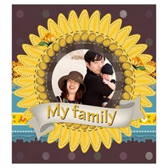 Family By Family   Drawstring Pouch (large)   7ij34zm5waie   Www Artscow Com Front